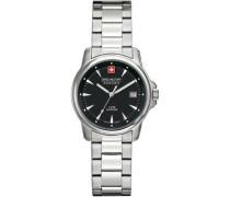 Swiss Recruit Lady Prime Schweizer Uhr silber