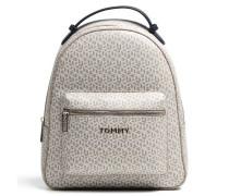 Iconic Tommy Rucksack beige/weiß