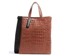 Paperbag Croco PaperbM Handtasche