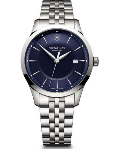 Alliance Schweizer Uhr silber/blau