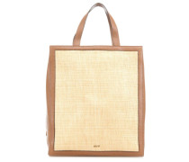 Raffia-West Frame Handtasche