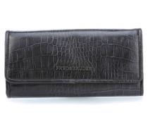 Wallet Croco Big Geldbörse Damen dunkelgrau