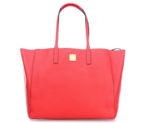 Shopper Project Leather Wendeshopper koral