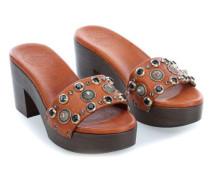 Clog 40 Schuhe cognac