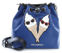 Choupette at the beach Beuteltasche blau