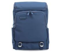Touchduck 17'' Laptop-Rucksack blau
