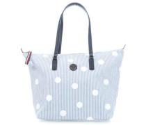 Poppy Shopper blau/weiß