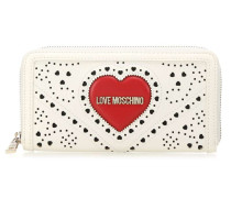 Heart Embroidery Geldbörse weiß