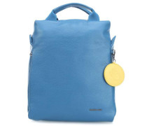 Mellow Leather Rucksack hellblau