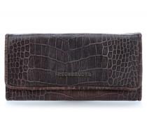 Wallet Croco Big Geldbörse Damen schokolade