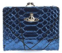 Pollock Geldbörse Damen blau metallic