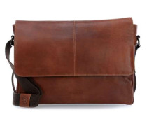 Grinta 15'' Laptop Messenger cognac