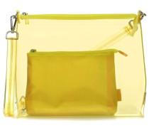 Jost Transparent 2tlg Schultertasche gelb