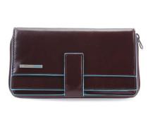 Blue Square RFID Geldbörse mahagoni