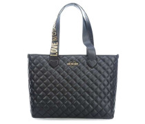 Fashion Quilted Shopper schwarz