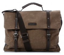 Waxed Canvas Kreon 15'' Aktentasche mit Laptopfach natur