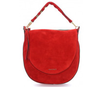 Bettina Suede Beuteltasche rot