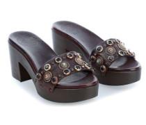 Clog 36 Schuhe dunkelbraun