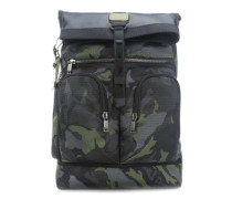 Alpha Bravo London Roll-Top 15'' Rucksack camouflage