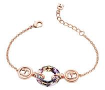 Fashion Colour Rings Armband roségold