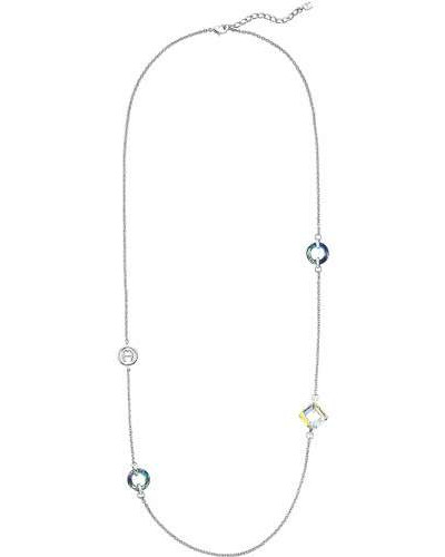Fashion Colour Rings Halskette silber