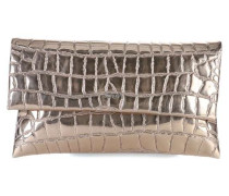 Croco Metallico Cadea Clutch gold