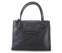 Vitello Goffrato Handtasche schwarz