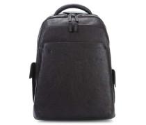 Black Square 15'' Laptop-Rucksack braun