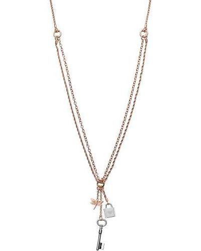 Halskette roségold/silber