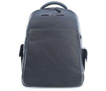 Black Square 15'' Laptop-Rucksack blau