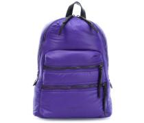 Nylon Saku Rucksack violett