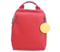 Mellow Leather Rucksack rot