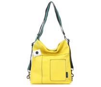 Black Clarissa M Beuteltasche gelb