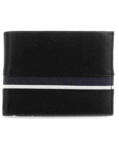 Stripe Geldbörse schwarz
