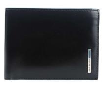 Blue Square RFID Geldbörse schwarz