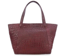 Croco Soho Shopper bordeaux