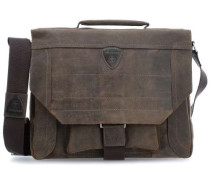 Hunter M 14'' Laptop Messenger dunkelbraun