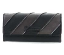 Flapped Geldbörse schwarz/grau