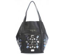 Macro Glam Crystal Handtasche schwarz