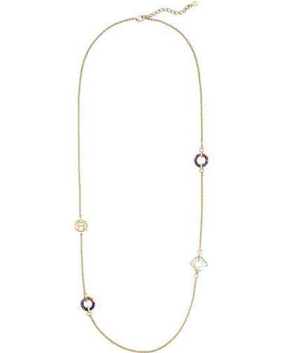 Fashion Colour Rings Halskette gold