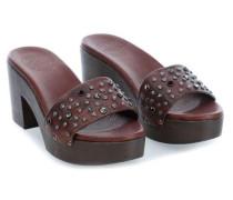 Clog 41 Schuhe dunkelbraun