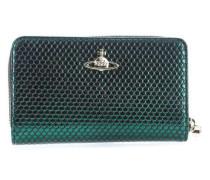 Florence Geldbörse Damen grün metallic