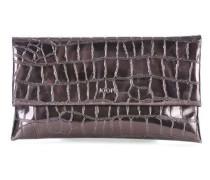 Croco Metallico Cadea Clutch schwarz
