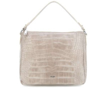 Croco Soft Athina Beuteltasche taupe