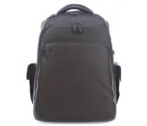 Black Square 15'' Laptop-Rucksack dunkelbraun