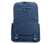 Touchduck 16'' Laptop-Rucksack blau
