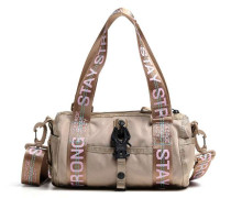 Roots Strong Roll R Grl Schultertasche beige/rosa