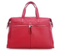 "Mayfair Luxe Audley 14"" Aktentasche mit Laptopfach rot"