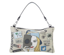 Friends Travelling Together Clutch mehrfarbig