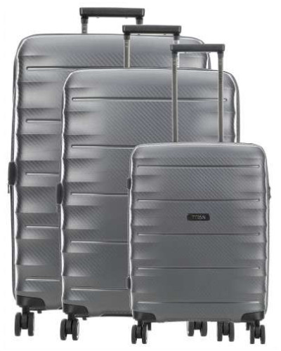 Highlight 4-Rollen Trolley Set anthrazit